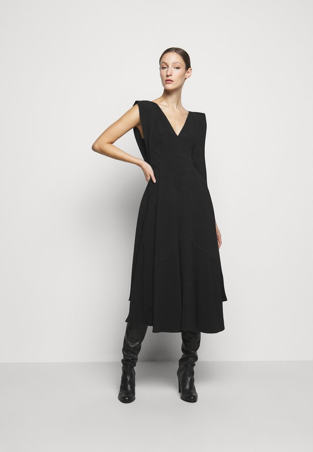 DOUBLE FLARE MIDI - Cocktail dress / Party dress - black