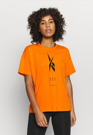 EDGEWRKS TEE - Print T-shirt - orange