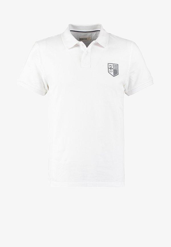 Pier One Koszulka polo - white/biały Odzież Męska JOIC