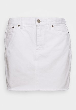 MALLORY - Denim skirt - white