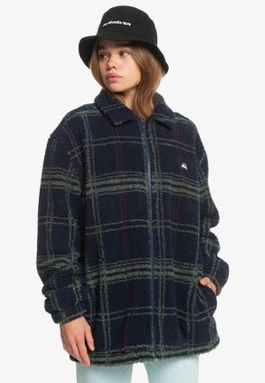 VENTURES BEYOND  - Fleece jacket - navy blazer plaid polar