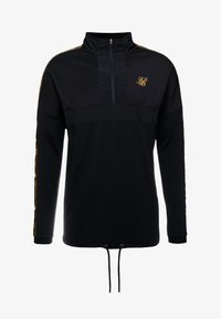 SIKSILK - EVOLUTION HALF ZIP TRACK TOP - Sweater - black & gold