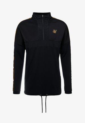 EVOLUTION HALF ZIP TRACK TOP - Sweater - black & gold