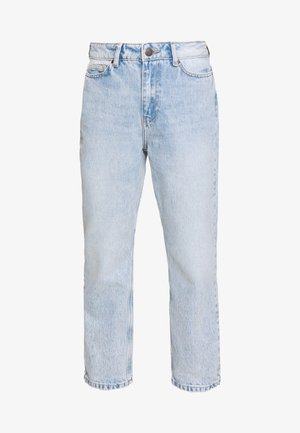 NMLISA VOLUM  - Straight leg jeans - light blue denim