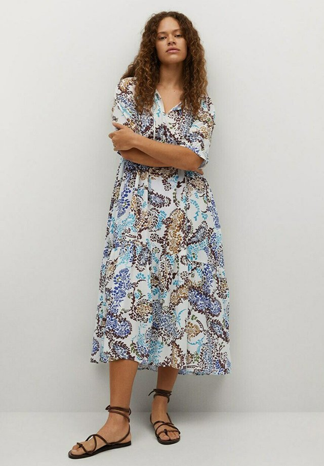 Korte jurk - cremeweiß