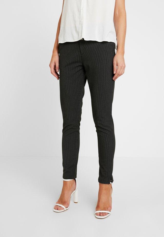 ALICE PANT PIN STRIPE - Trousers - black