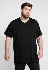 Only & Sons - ONSMATT LONGY TEE 3-PACK - Basic T-shirt - white/black/light grey melange - 0
