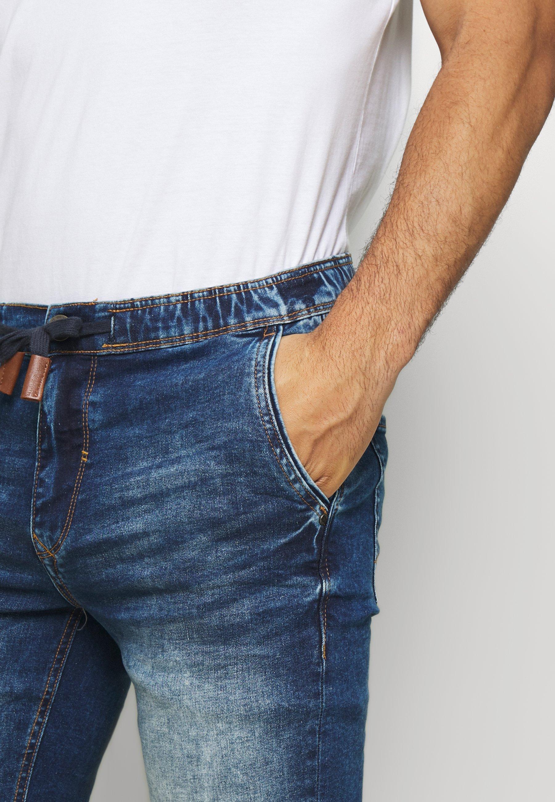 Blend Denim shorts - denim middle blue
