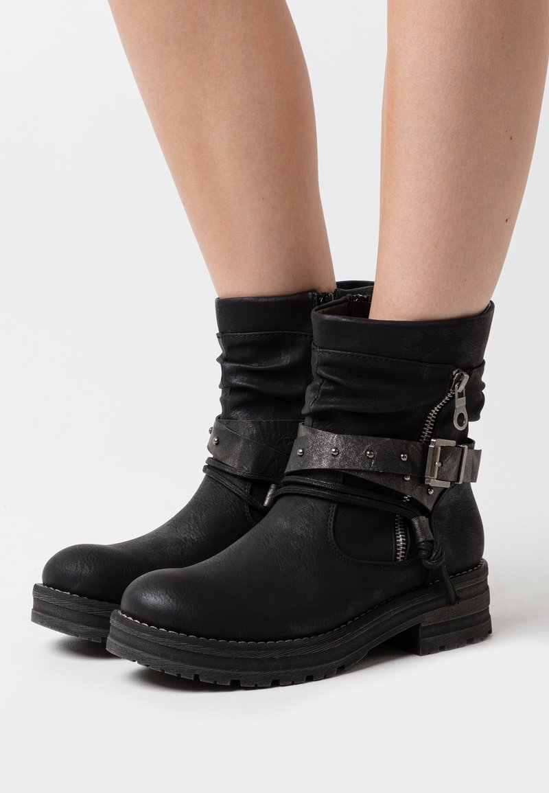 Coolway - REGAN - Cowboy/biker ankle boot - black