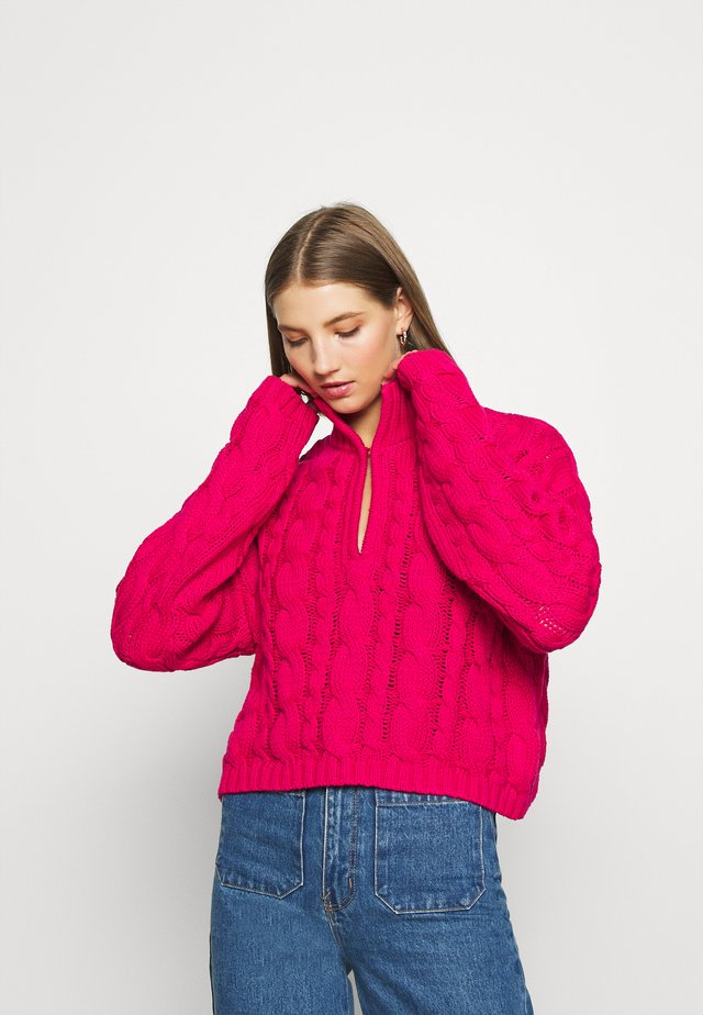 KEYHOLE OVERSIZED CROPPED - Jumper - pink