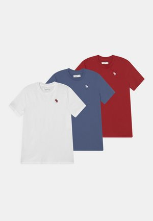 CREW 3 PACK - Camiseta básica - red/blue/white