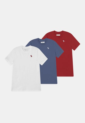 CREW 3 PACK - Basic T-shirt - red/blue/white