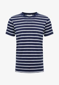 THE ORGANIC MULTISTRIPED TEE - Print T-shirt - darkblue