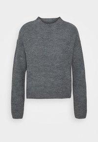 Even&Odd - Strikkegenser - mottled dark grey - 3