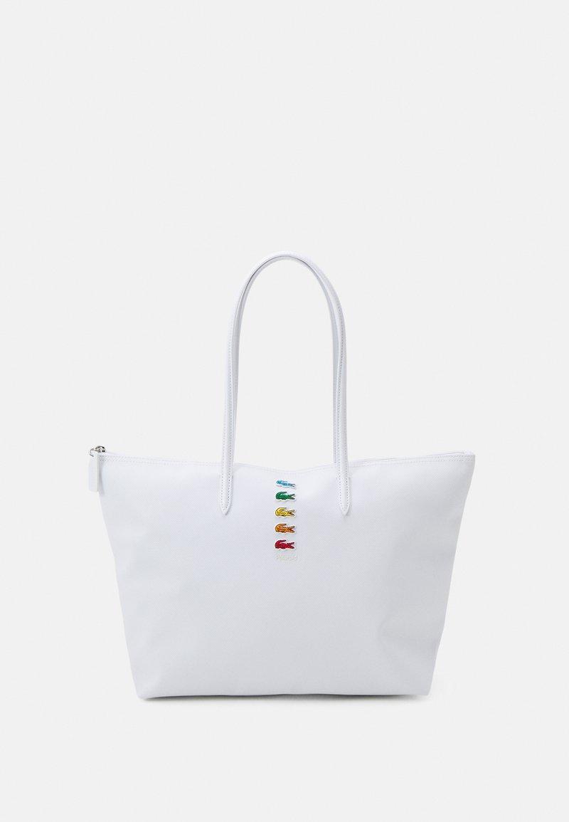 Lacoste - Shopper - white/navy blue/antirrhinum/clay/pollen/archipelago/madras pink