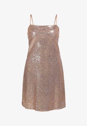 PAILLETTENKLEID - Cocktail dress / Party dress - rosa gold