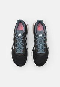 adidas Performance - GALAXAR RUN - Zapatillas de running neutras - core black/silver metallic/fresh candy - 3