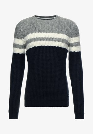 ONSLAZLO STRIPED CREW NECK - Sweter - blue nights