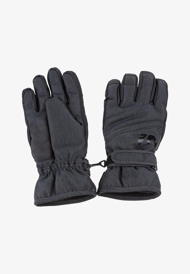 Gloves -  dark grey melange