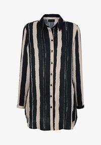 Laura Kent - Button-down blouse - stein,schwarz,wollweiß - 3
