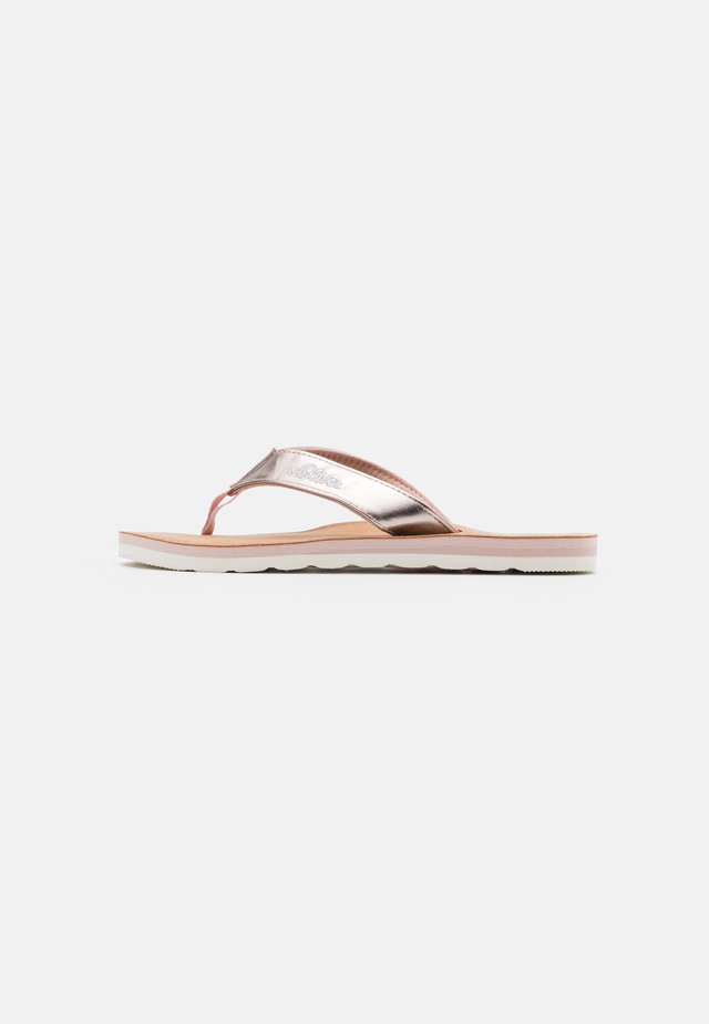 SLIDES - Sandalias de dedo - rose gold metallic