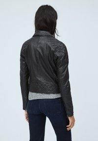 Pepe Jeans - ALBA - Giacca di pelle - black - 2