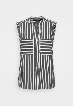 VMERIKA STRIPE - Button-down blouse - black/snow white