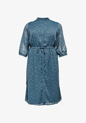 ONL BEDRUCKTES CURVY - Vestido camisero - ensign blue