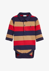 Next - MULTI STRIPED POLOBODY AND CHINO SET (0MTHS-3YRS) - Body - red - 1