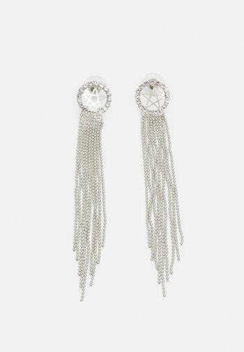 STATEMENT DROP EARRINGS - Earrings - silver-coloured
