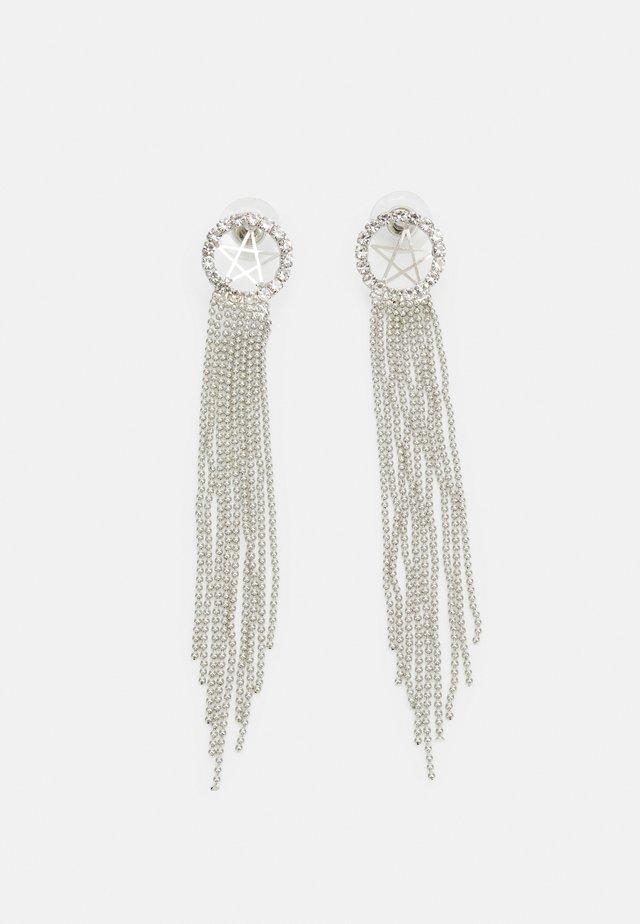 STATEMENT DROP EARRINGS - Oorbellen - silver-coloured