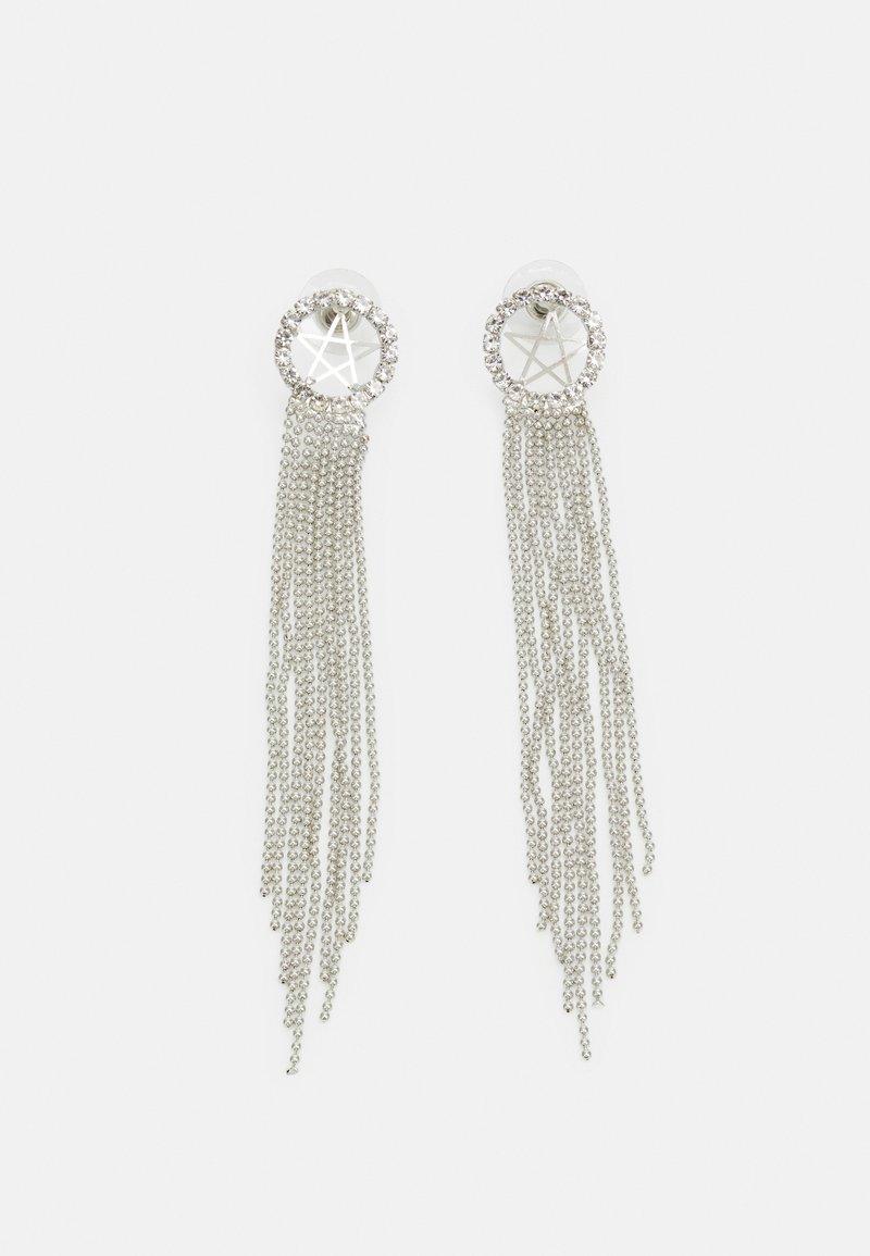 sweet deluxe - STATEMENT DROP EARRINGS - Earrings - silver-coloured