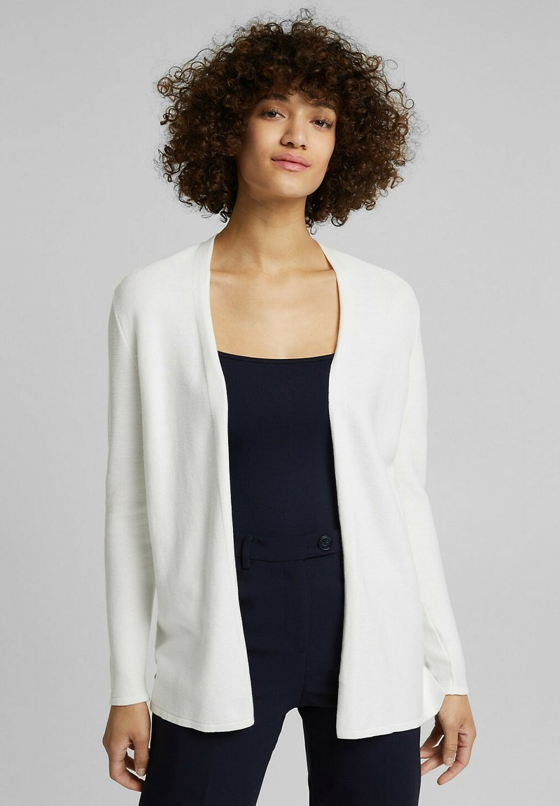 Esprit - THROW ON - Cardigan - off white