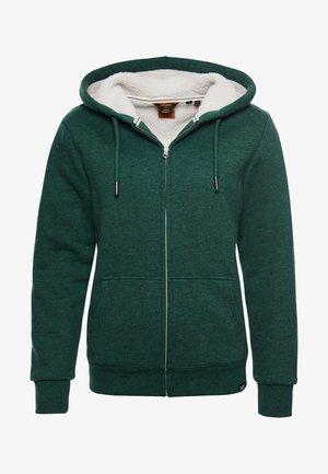 BORG LINED - Zip-up sweatshirt - green