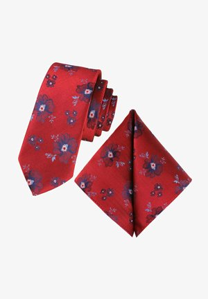 SET - Pocket square - red, dark blue, light blue