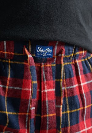 Tracksuit bottoms - highlander check red