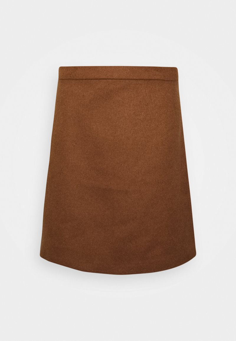 Esprit Collection - SKIRT - Mini skirt - toffee