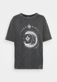 BDG Urban Outfitters - ETERNAL MOON TEE - Print T-shirt - washed grey - 4
