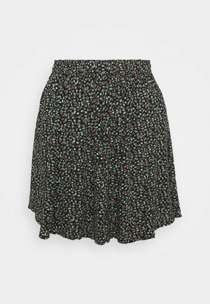 SUPER GODET MINI SKIRT - Gonna a campana - black