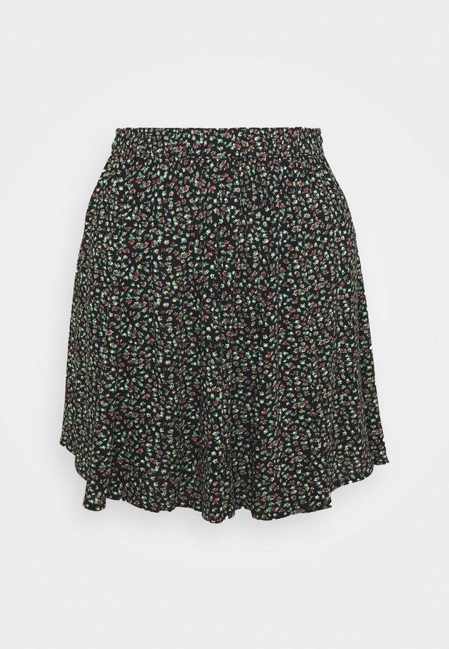 SUPER GODET MINI SKIRT - A-line skirt - black