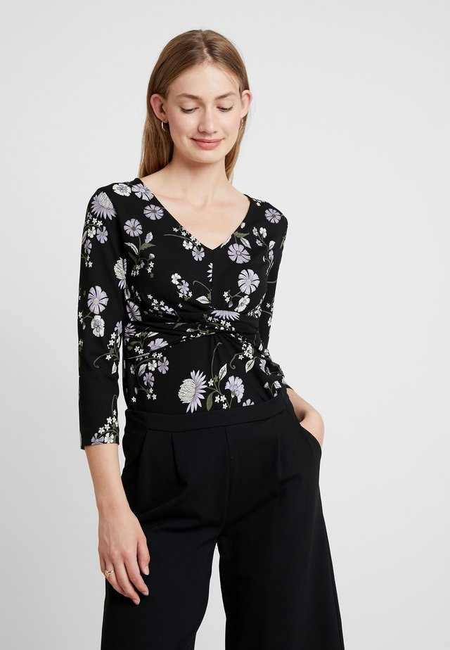BIRGITTA - T-shirt à manches longues - black