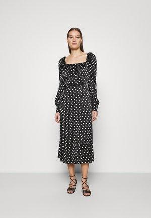 DRESS - Vestito lungo - black/white