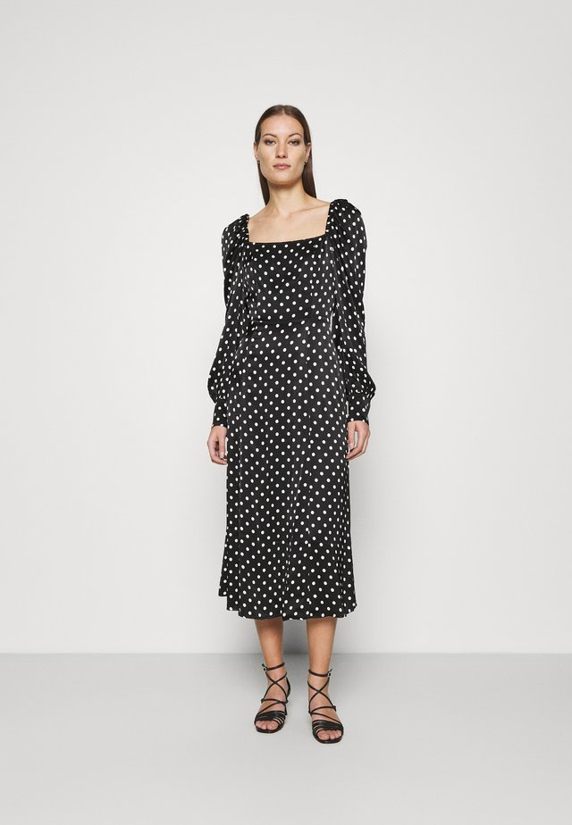 DRESS - Maxi-jurk - black/white
