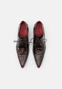Jeffery West - SYLVIAN MR LUCKY GUITAR LAZER - Šněrovací boty - college bronz - 3