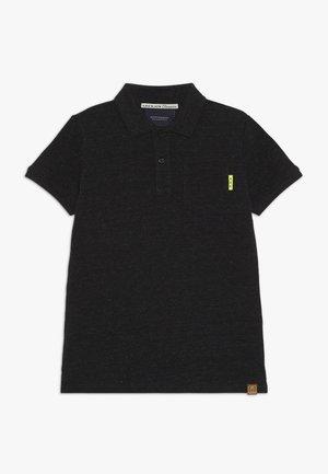 GARMENT DYED - Koszulka polo - antra melange