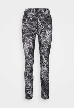 PIXEL PALM PRINT HIGH WAIST 7/8  - Leggings - black