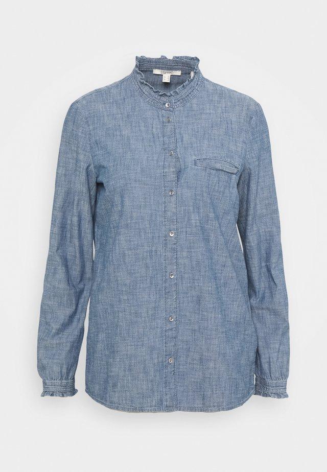 BLOUSE - Skjortebluser - grey blue