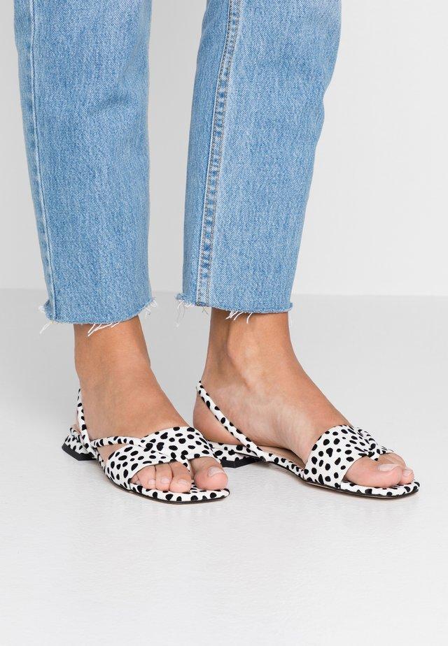 HESTER - T-bar sandals - white