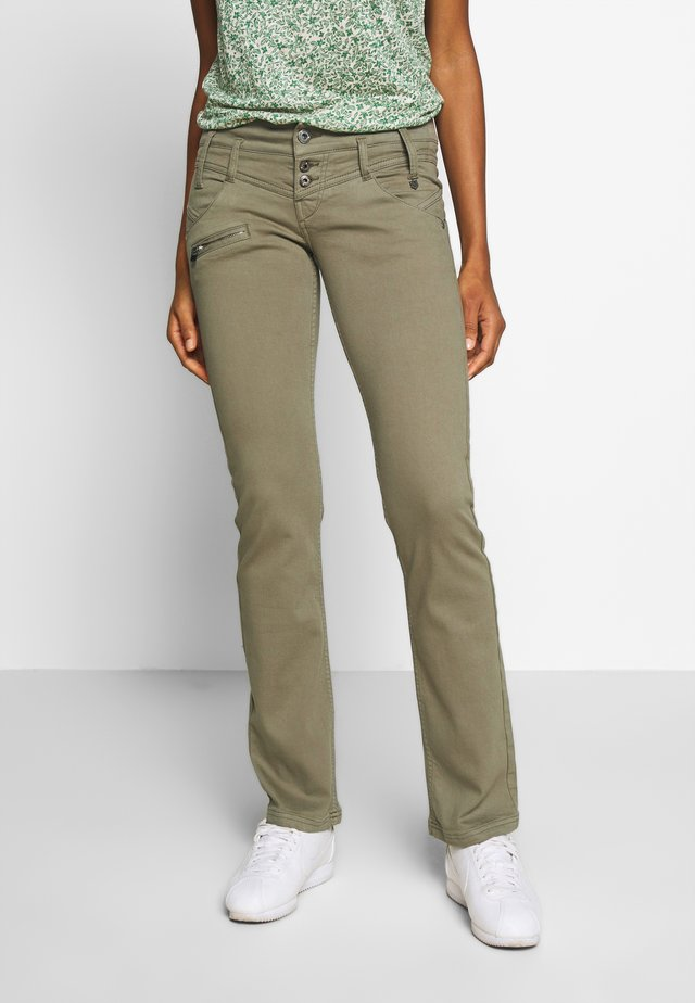 AMELIE MAGIC COLOR - Trousers - deep lichen green