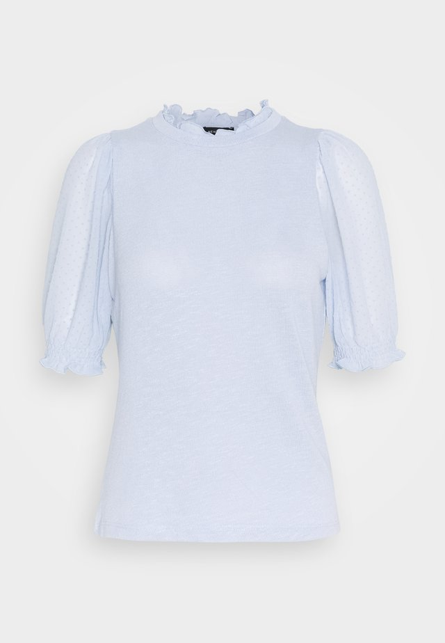 DOBBY FRILL - T-shirt con stampa - light blue